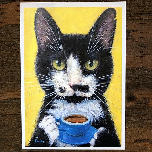 Cimi cat painter ポストカード「Pufi(プフィ)」
