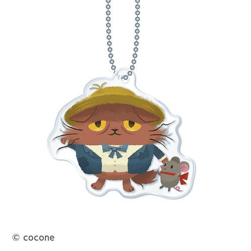 猫のニャッホ アクリルキーチェーン「ニャッホ&テオ」