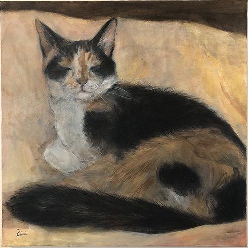 Cimi cat painter アクリル画「Tia(ティア)」