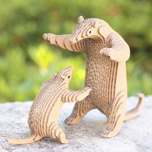 段々倶楽部 段々動物園「ミナミコアリクイの親子」