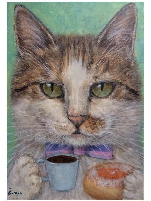 Cimi cat painter ポストカード「Maco(マツォ)」