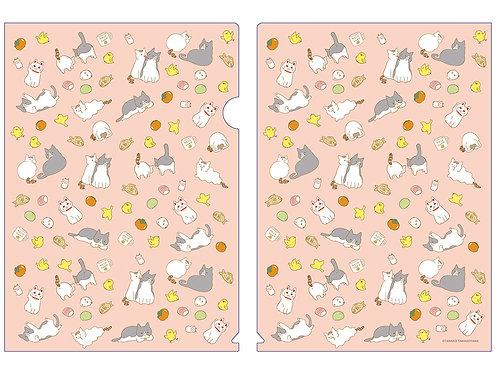 『うちの猫』クリアファイル・ピンク