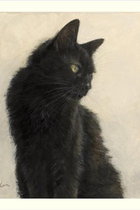 Cimi cat painter ポストカード「くろ」