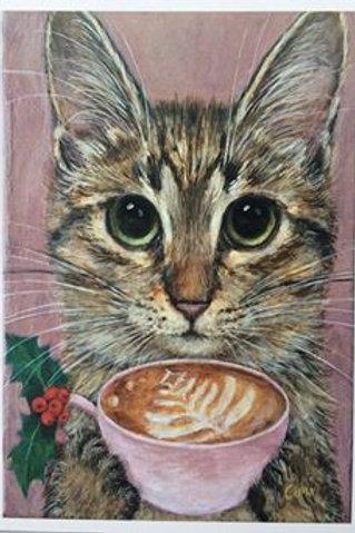 Cimi cat painter ポストカード「Mina(ミーナ)」