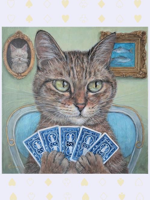 Cimi cat painter ポストカード「Mei(メイ)」