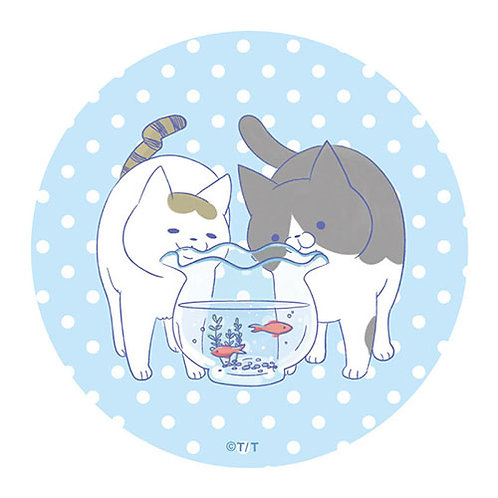 『うちの猫』BIG缶バッジ・ブルー