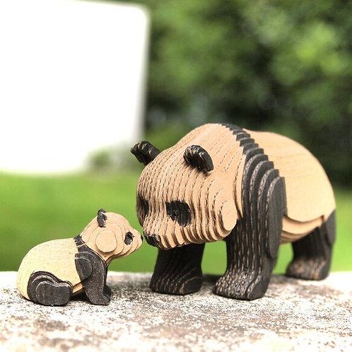 段々倶楽部 段々動物園「パンダの親子・歩」