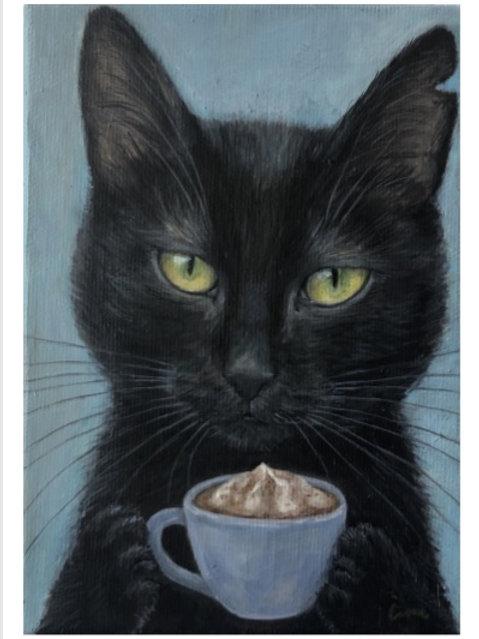 Čimi cat painter ポストカード「Cernica(チェルニツァ)」