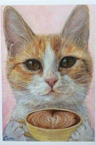 Cimi cat painter ポストカード「Kate(ケイト)」