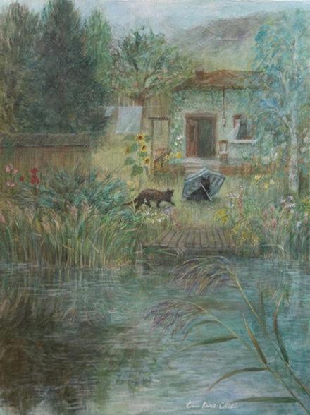 Cimi cat painter ポストカード「永遠の家」