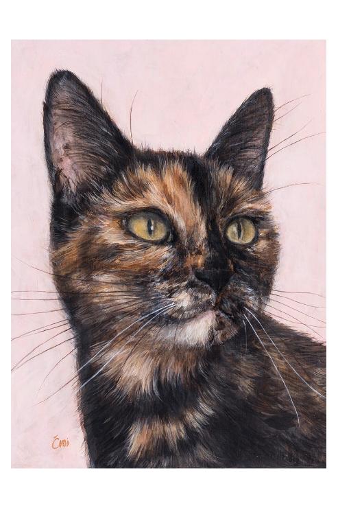 Cimi cat painter ポストカード「DOLCE(ドルチェ)」