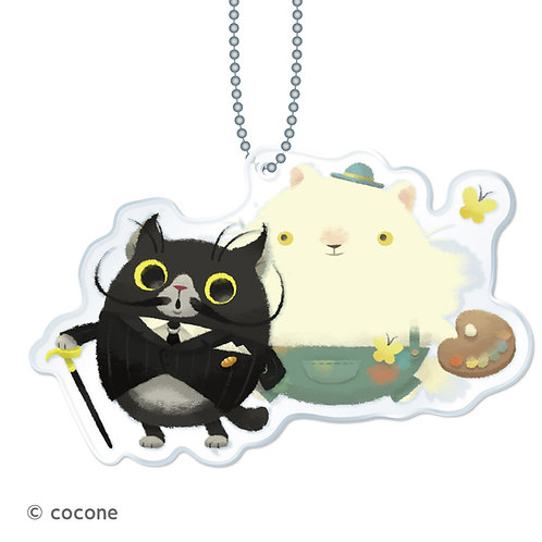 猫のニャッホ アクリルキーチェーン「モネ&ダリ」