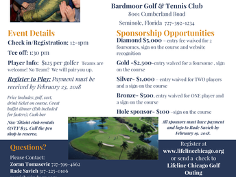 1st Florida Charity Golf Event