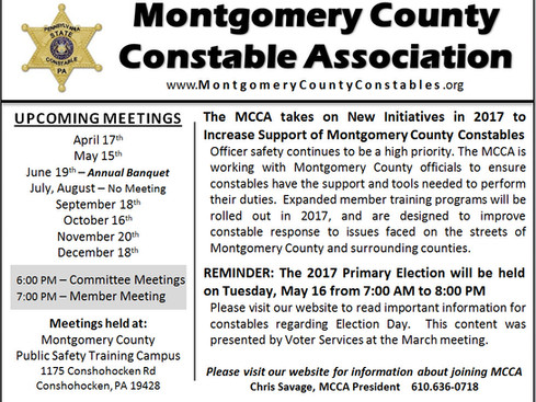 Montgomery County Constable Association Takes on New Initiatives in Support of Officer Safety