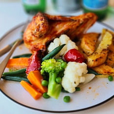 Baked Chicken, Potatoes and Vegetables