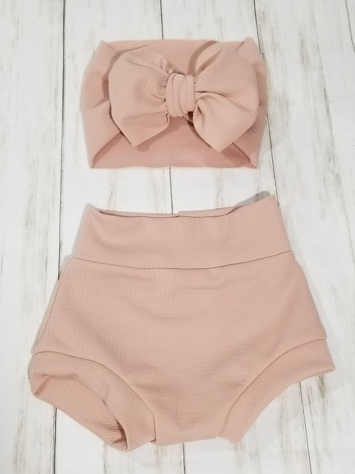 Blush Pink Bummie Set