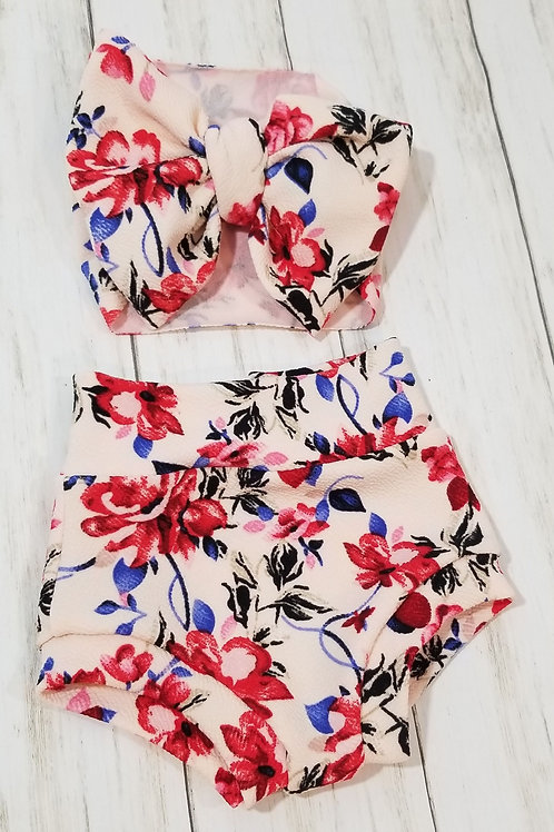 Rosie Roses Bummie Set