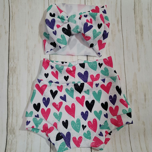 Colorful Hearts Bummie Set