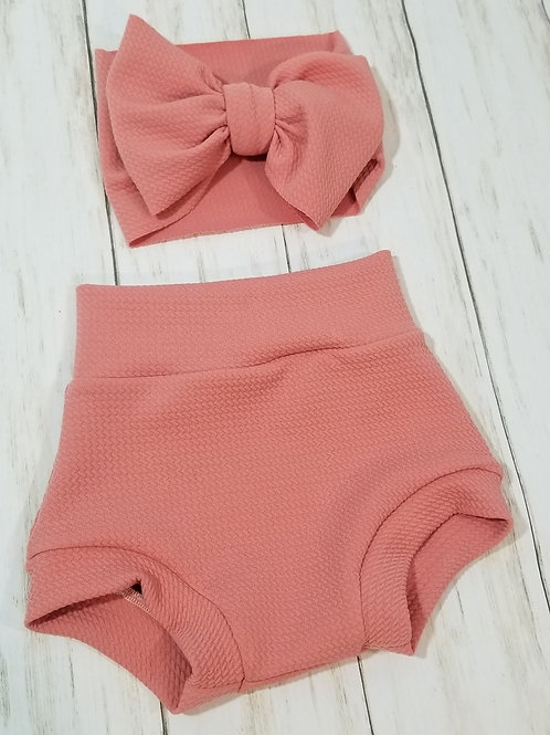 Dusty Pink Bummie Set