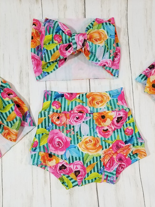 Colorful Bloom Bummie Set