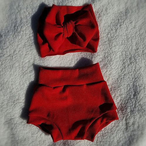 Red Bummie Set