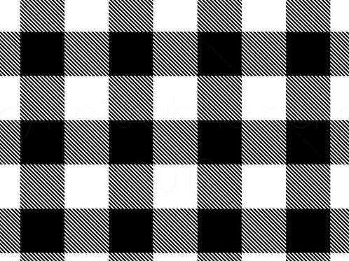 Black N' White Plaid Bummie Set