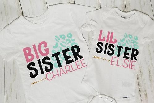 Lil/Big Sis Leopard Set