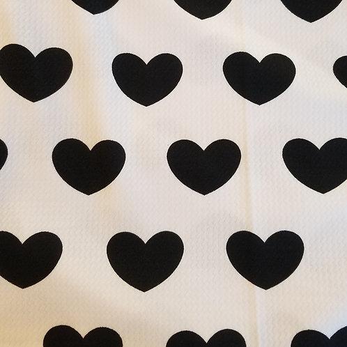 B/W Hearts Bummie Set