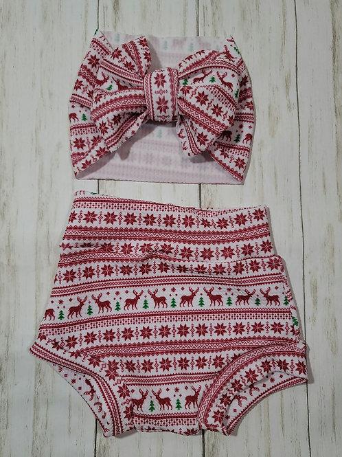 Christmas Sweater Bummie Set