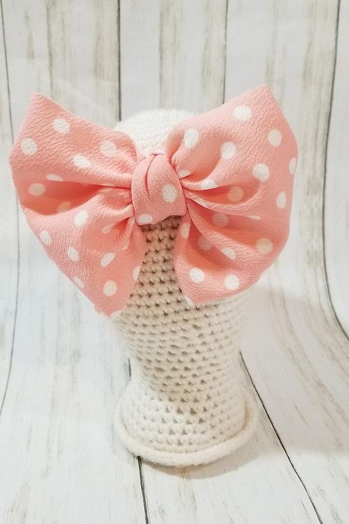 Pink w/ White Polka Dots