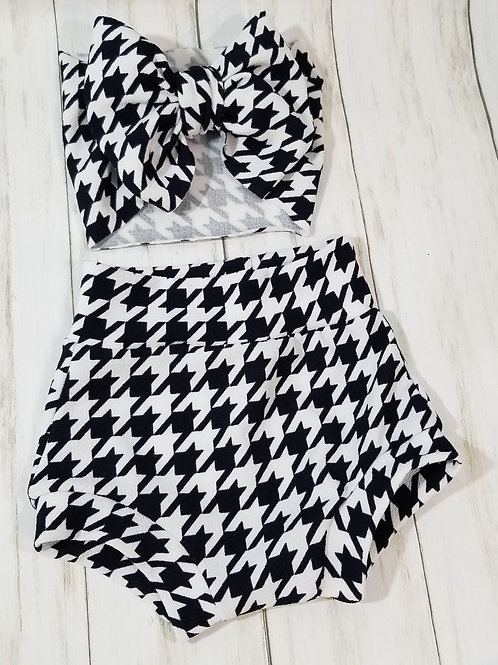Houndstooth Bummie Set