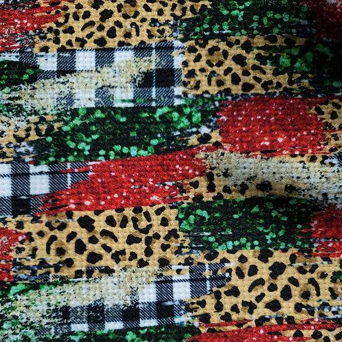 Leopard Christmas Bummie Set