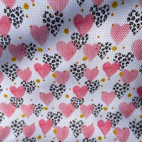 Leopard Hearts Bummie Set