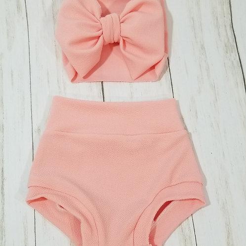 Soft  Pink Bummie Set