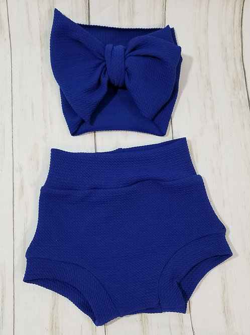 Royal Blue Bummie Set