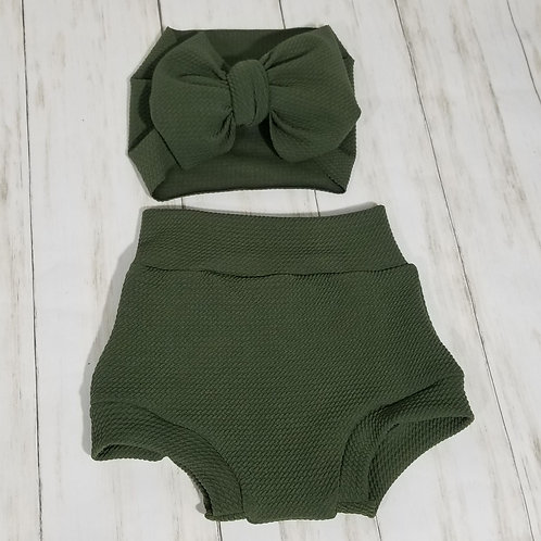 Army Green Bummie Set