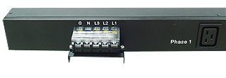 3 Phase Basic PDU with input terminal block