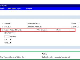 依據TRAP 通知,管理PDU輸出 的使用說明