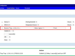 Managing PDU output based on TRAP notification