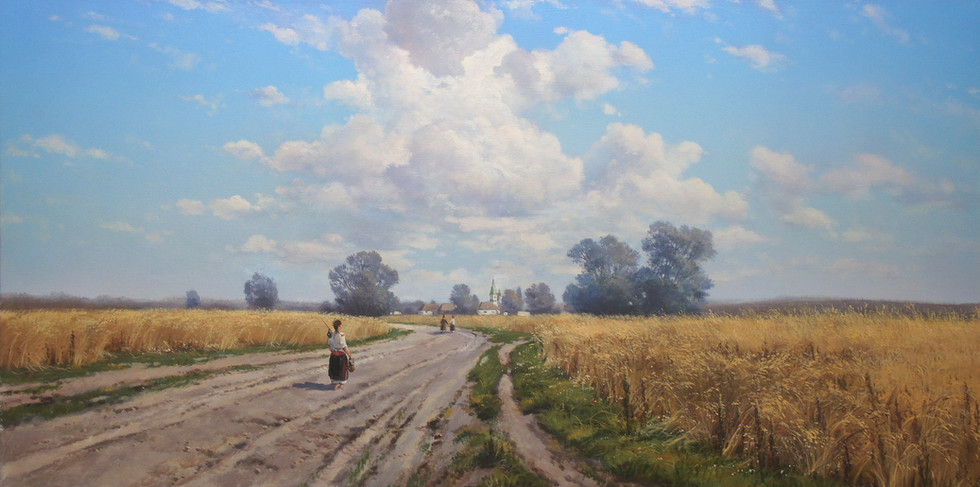 A copy of Kryzhitsky's painting  The  road