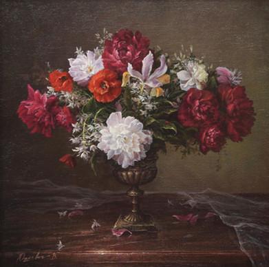 Floral velvet