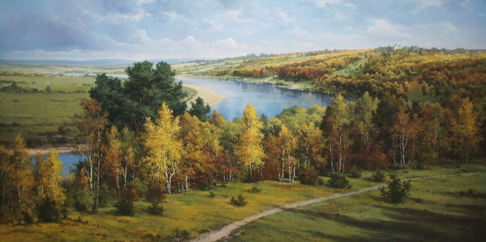 A copy of Polenov's painting  Golden autumn