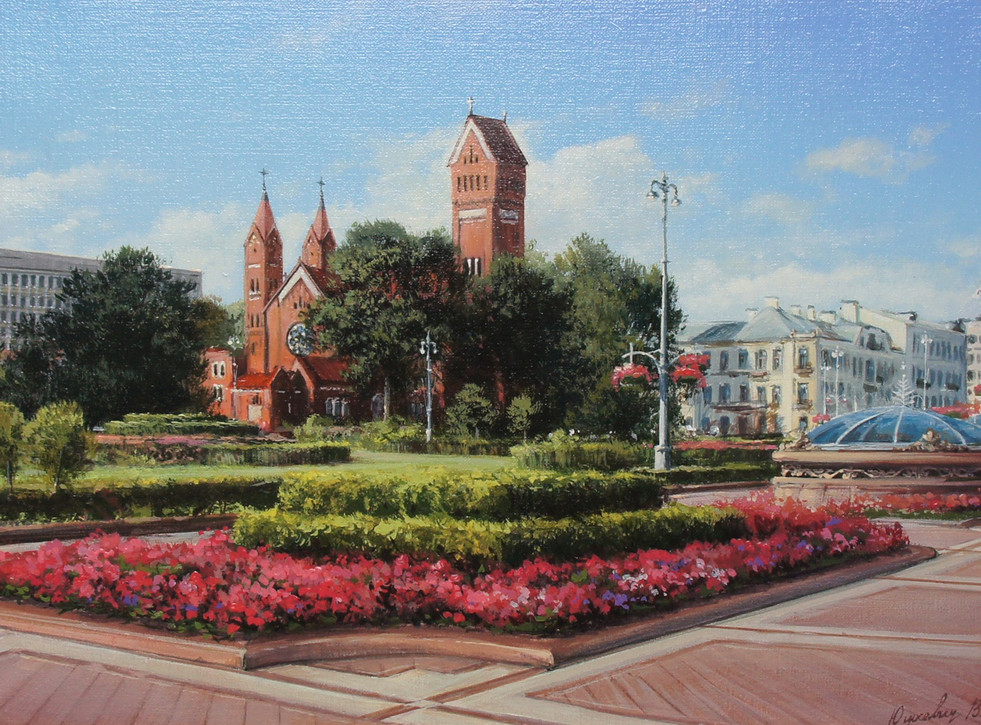 St.Peter's and st.Helen's Cathedral in Minsk