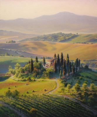 Sunrise in Tuscany