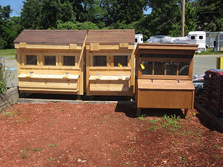 Chicken Coops at Essex Co-Op