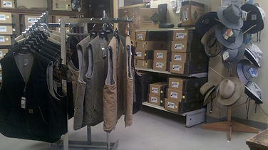 Vests, boots and hats