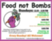 Food Not Bombs RVA Schedule