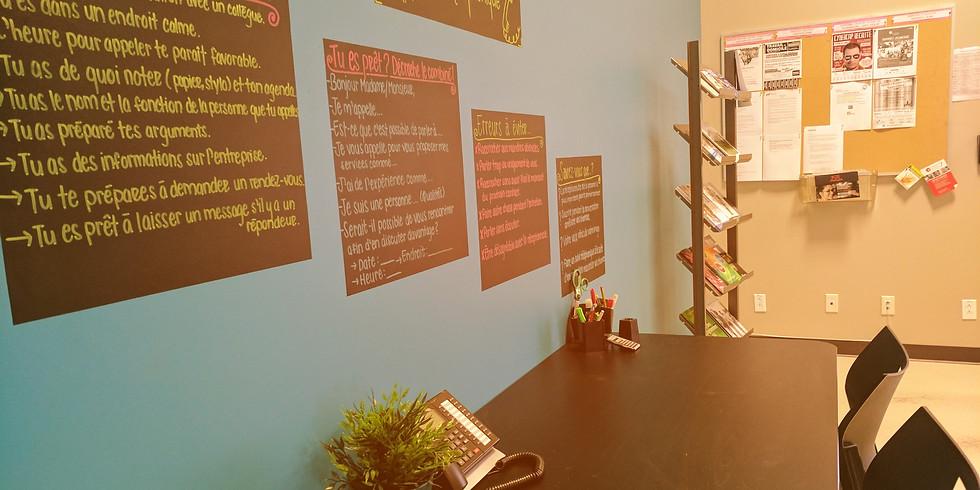 Centre de documentation : Accès aux ordinateurs et à un conseiller