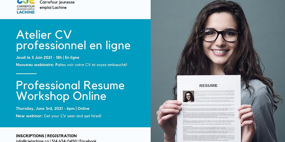 WEBINAIRE: Faites voir votre CV et soyez embauché! | WEBINAR: Get Your CV Noticed and Get Hired! (1)
