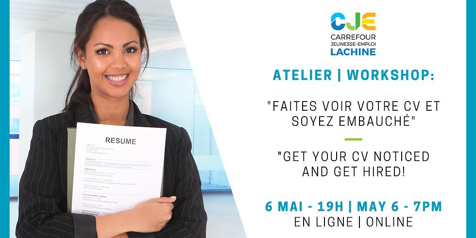 WEBINAIRE: Faites voir votre CV et soyez embauché! | WEBINAR: Get Your CV Noticed and Get Hired!